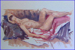 Life Model Watercolour - Miranda Solly